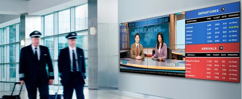 تکنولوژی دیجیتال ساینیج در فرودگاه