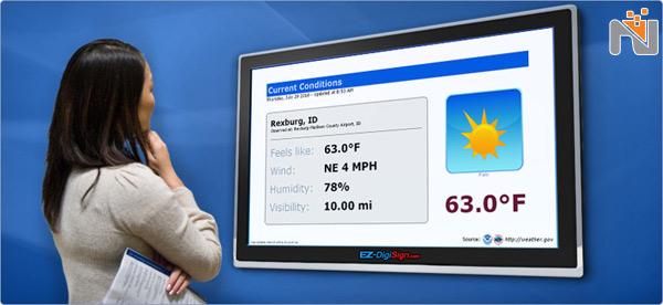 کسب اطلاعات هواشناسی با دیجیتال ساینیج