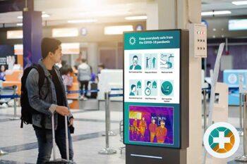 دیجیتال ساینیج در فرودگاه